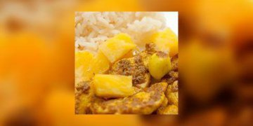 Curry de poulet à l'ananas
