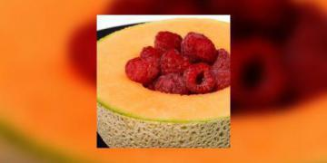 Melon surprise aux framboises