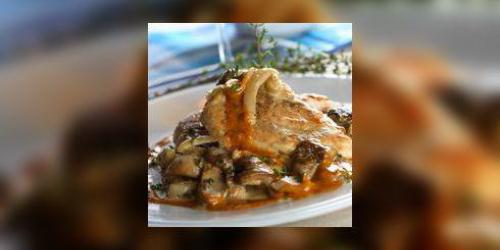 Pintade aux champignons forestiers