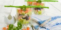 verrine avocat saumon